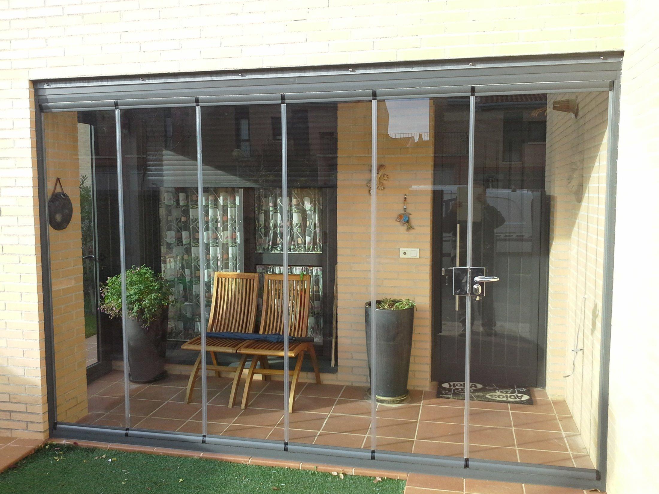Cerramiento cortina de cristal montajes de aluminio dg - Cerramientos plegables de vidrio ...