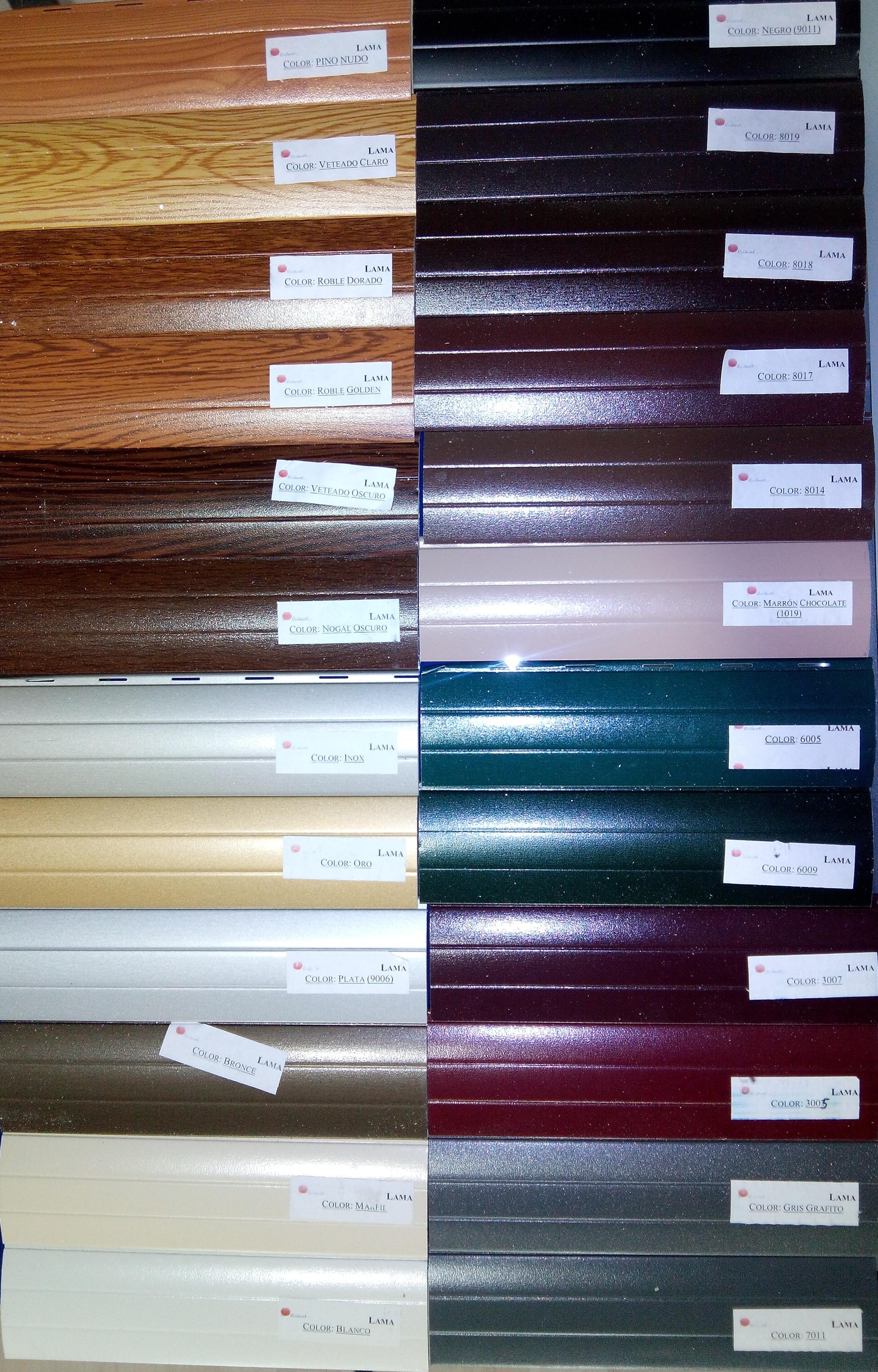 colores y acabados para las ventanas y puertas de aluminio