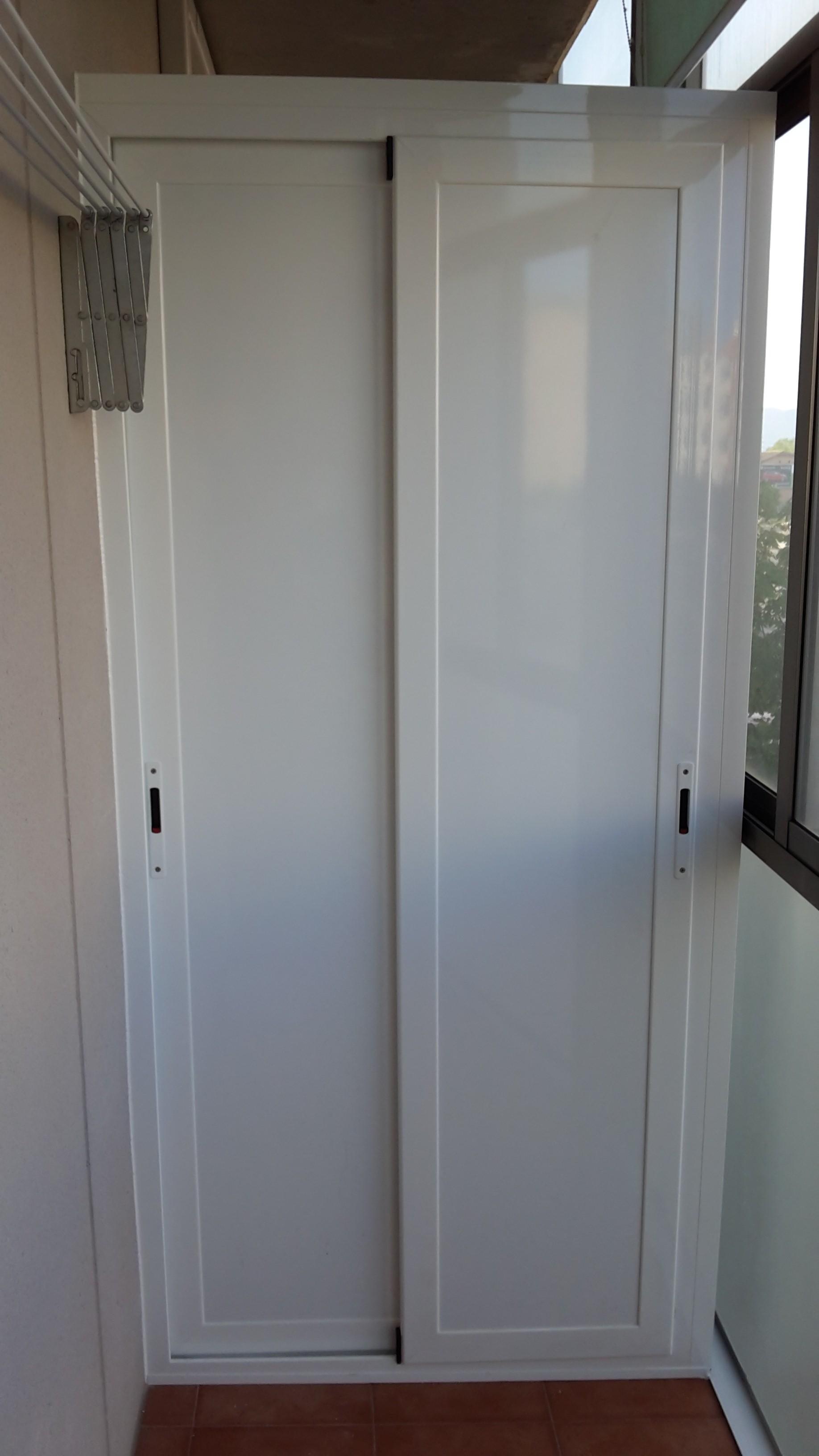 Armario de aluminio montajes de aluminio dg for Puertas para terrazas