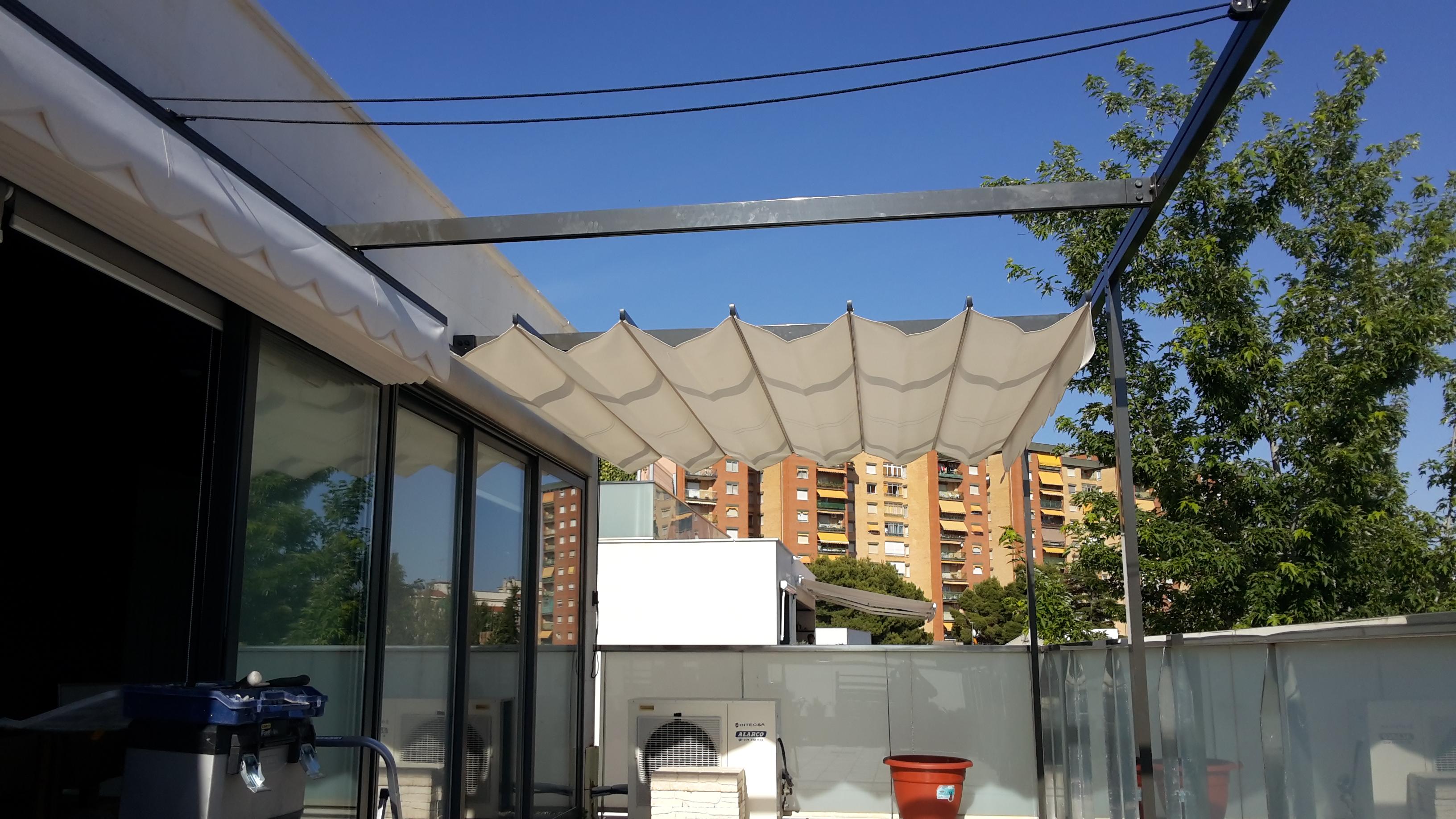 Pergola montajes de aluminio dg for Perfileria para toldos correderos